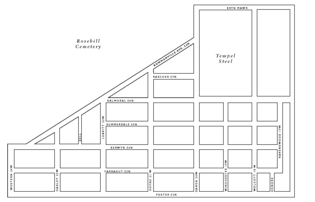Map of Bowmanville Neighborhood in Chicago, IL