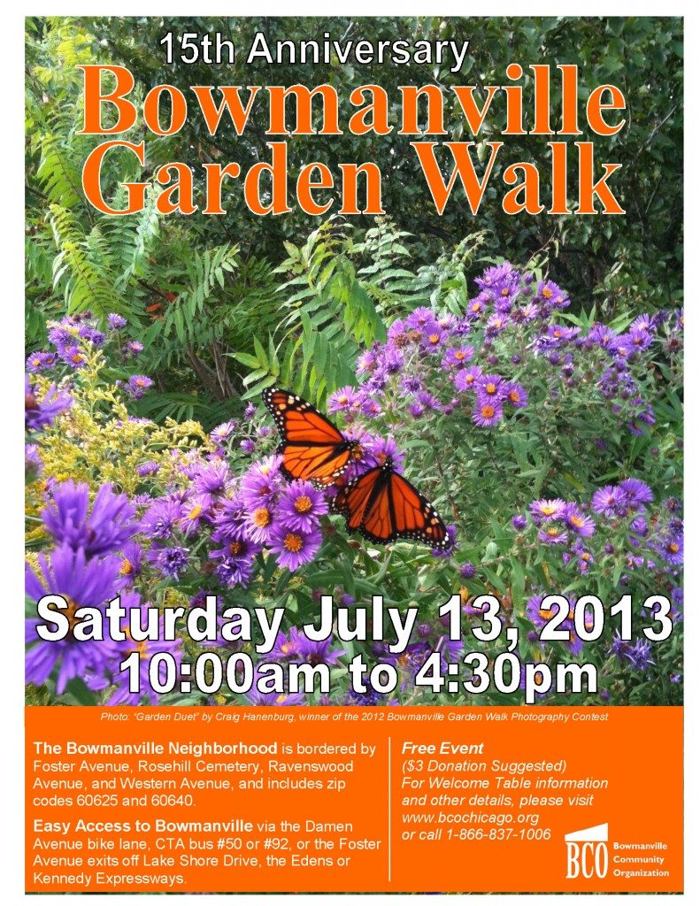 2013 Garden Walk Poster