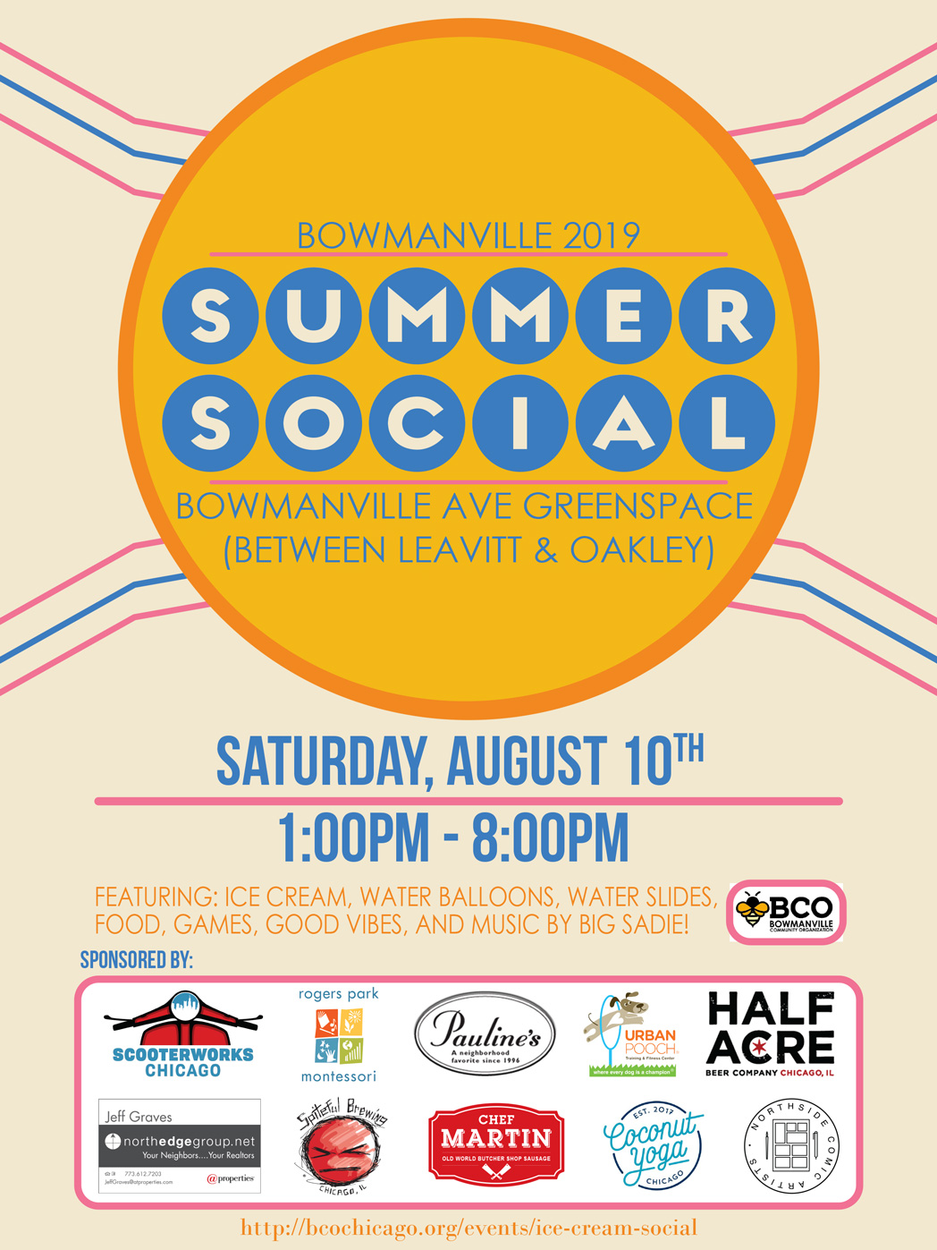 Bowmanville Summer Social 2019 - logo with date - Saturday August 10th 2019